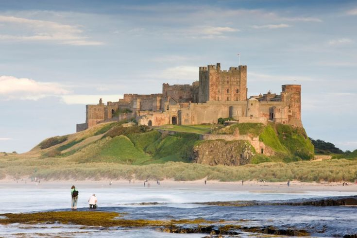 Bamburgh, Northumberland  Overlooked by Bamburgh Castle, this beautiful stretch of wild coastline offers clear seas and huge sands that stretch to Seahouses, three miles away. On a clear day you can see out to Lindisfarne and the Farne Islands.