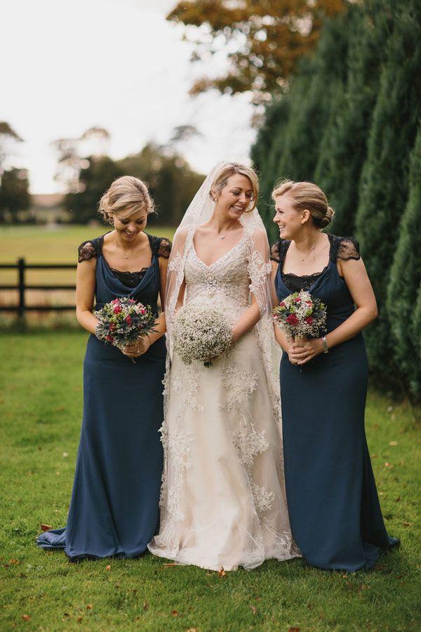 Blue bridesmaids dresses   onefabday.com
