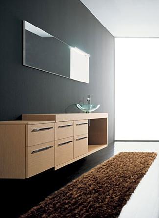 Línea de muebles de baño moderno modular en Oak (13)