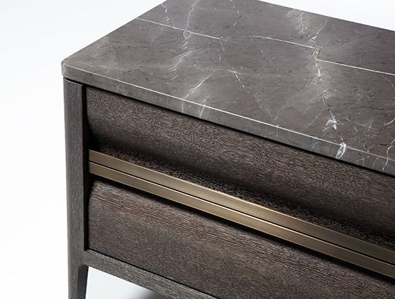 HOLLY HUNT Oslo Bedside Table