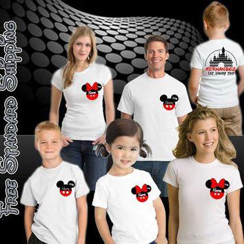 Disney Vacation Pirate Family shirts Personalized, Mickey Family Tees, Vacation Shirts for Disney