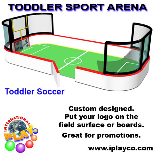 Toddler Soccer Sport Arena ~ soft foam play ~ indoor playgrounds by Iplayco www.iplayco.com