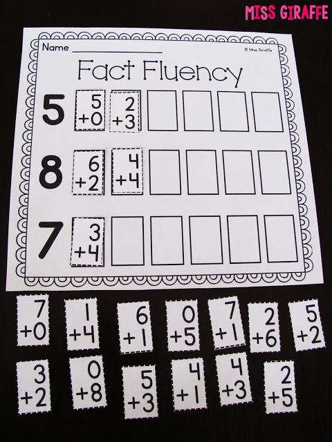 Miss Giraffe's Class: Fact Fluency in First Grade