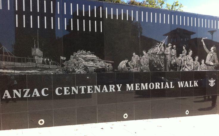 The Anzac Centenary Memorial Walk Kintore Avenue Adelaide South Australia