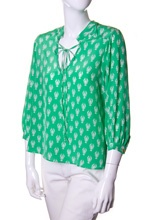 green lobster tunic top