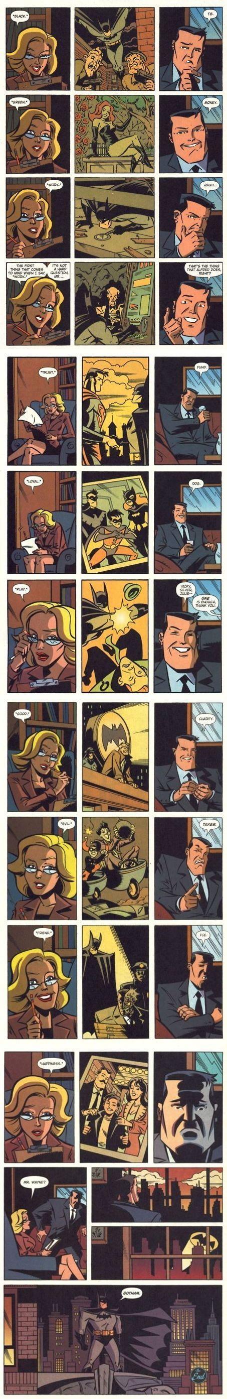 A little word association with Mr. Wayne.