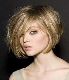 undercut bob, I love this cut, I just recently got my hair cut into a short chin length bob.  I am working on growing my bangs out -- this is the look I want for my wedding.  Love it.