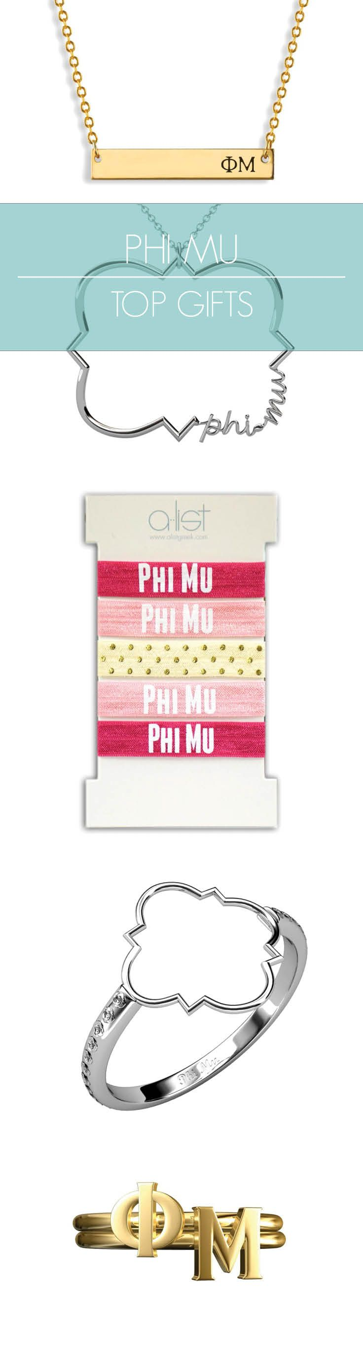 Top Phi Mu Gifts for you and your sisters! This season's must-haves for all things Phi Mu // #sorority www.alistgreek.com