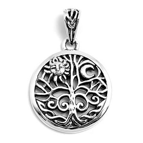 Astral Aspects® Sterling Silver Handfasting Pentagram Pendant