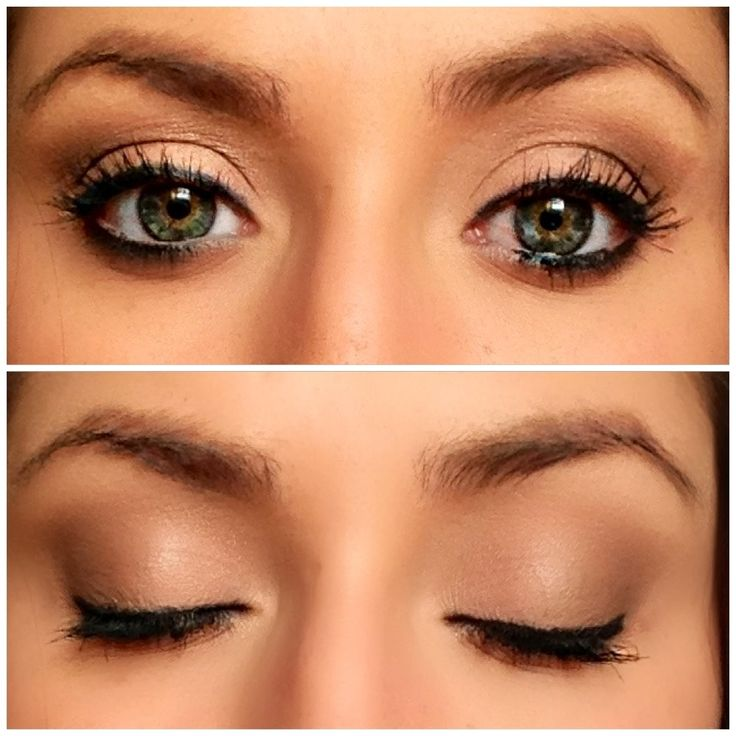 Natural eye make up look. Best for green eyes!