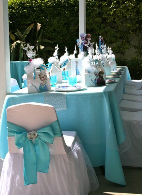 48 Best Frozen Party Table Settings Images On Birthday & Table Decorations For Frozen Party | Decoration For Home