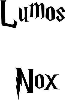 Harry Potter Lumos Nox Light switch cover Vinyl Decal Sticker