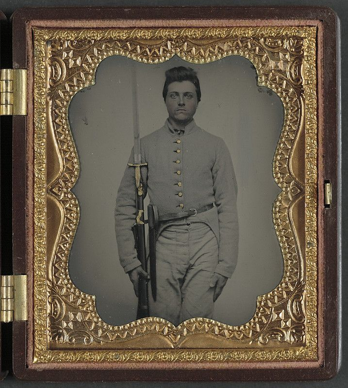 """[Private Parris P. Casey of Company I, """"Cherokee Rangers,"""" 19th Alabama Infantry Regiment] (LOC) 