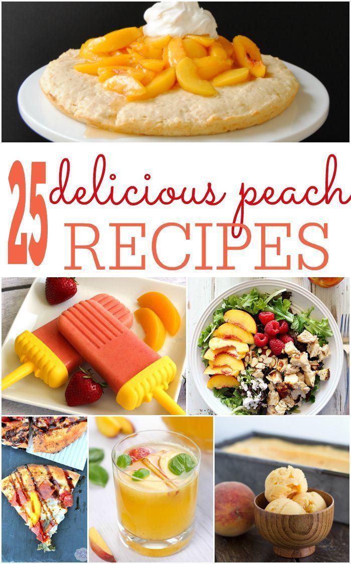 Delicious Peach Recipes, How to Use Ripe Peaches, Peach Recipe Ideas, Breakfast Peach Recipes, Peach Dessert Recipe Ideas