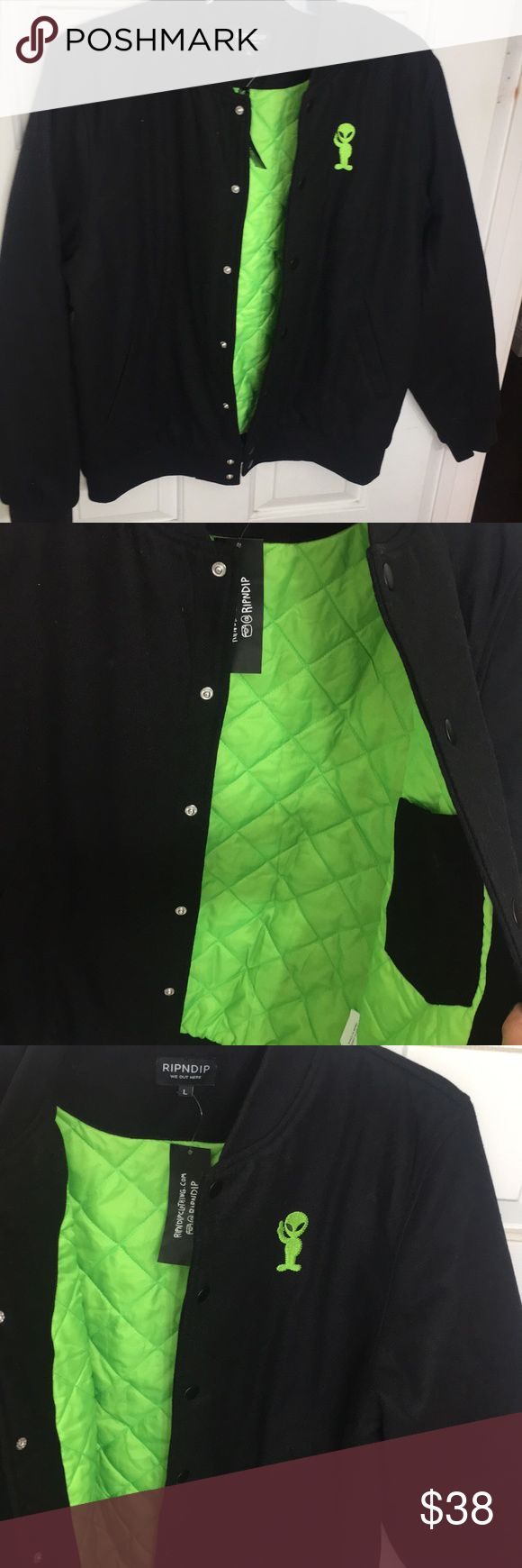 Rip n Dip Jacket BLACK AND GREEN RIP N DIP ALIEN JACKET....Super warm for those cold days.. RIP N DIP Jackets & Coats Bomber & Varsity
