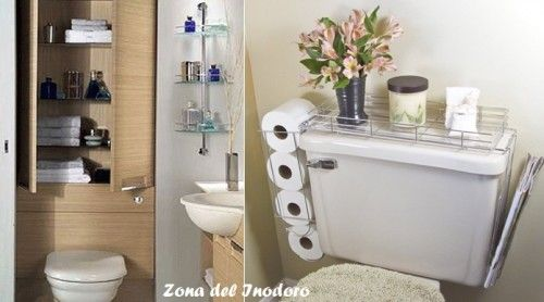 Ideas para organizar ba os peque os for Como decorar un bano moderno