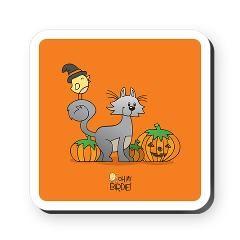 Happy Halloween! Square Coaster $12.50