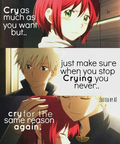 Cry As Much As You Want But...just Make Sure When You Stop