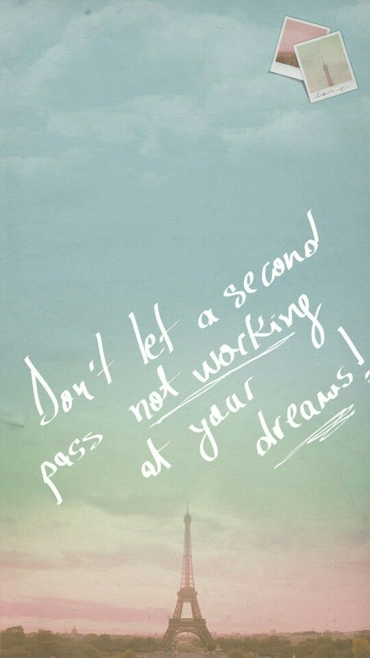 #don't #let #second #pass #not #working #you #dream #cool #now #act