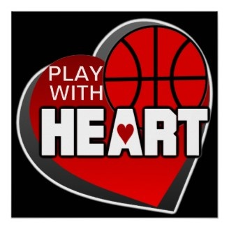 Play With Heart. Each of the kids could write on a heart encouraging players to decorate poster. Could use this wording on poster.