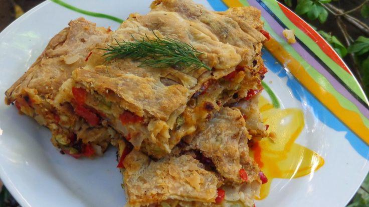 Πίτα με πιπεριές Φλωρίνης ,κολοκυθάκια,και φέτα!!! ~ ΜΑΓΕΙΡΙΚΗ ΚΑΙ ΣΥΝΤΑΓΕΣ
