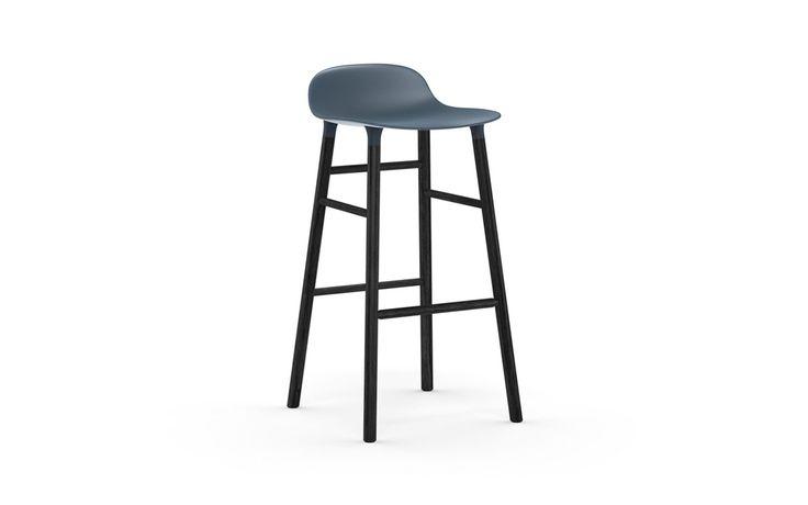Form Barstool 75 cm blue/black