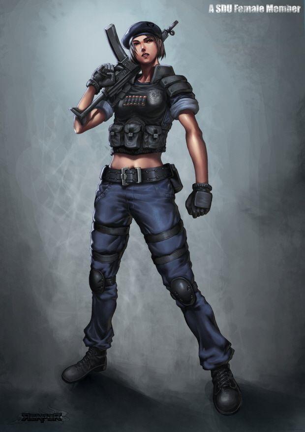 Military - Female SDU Agent by reaper78.deviantart.com ...