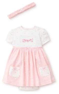 638d68272365 Little Me Baby Girl s Three-Piece Polka Dot Flower Cotton Headband ...