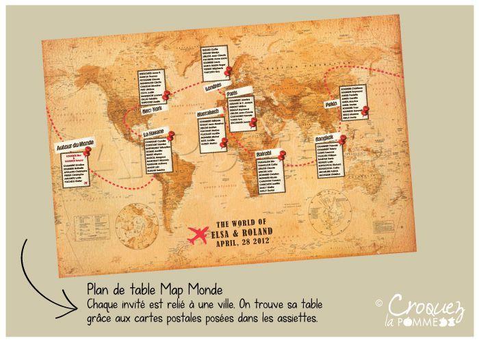 Bonjour les filles !! Un mariage sur le thème voyage.... je dis oui !! Avez vous des idées (photos à l'appui) de plan de table sur le thème voyage (avec une carte) et des idées de dépliant type 'carnet de voyage' pour les menus ? A vous de jouer les