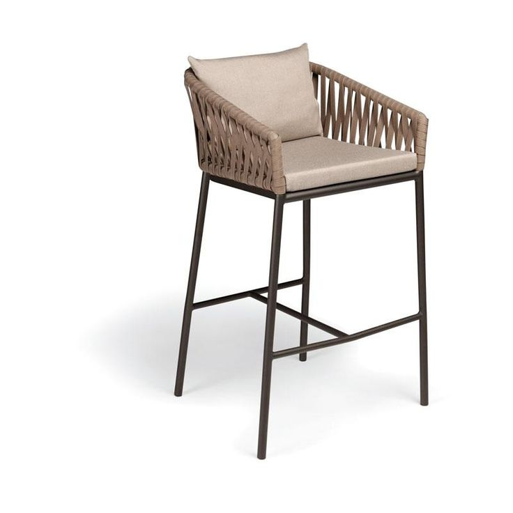 KETTAL BITTA - Bar Stool in lighter colored rope