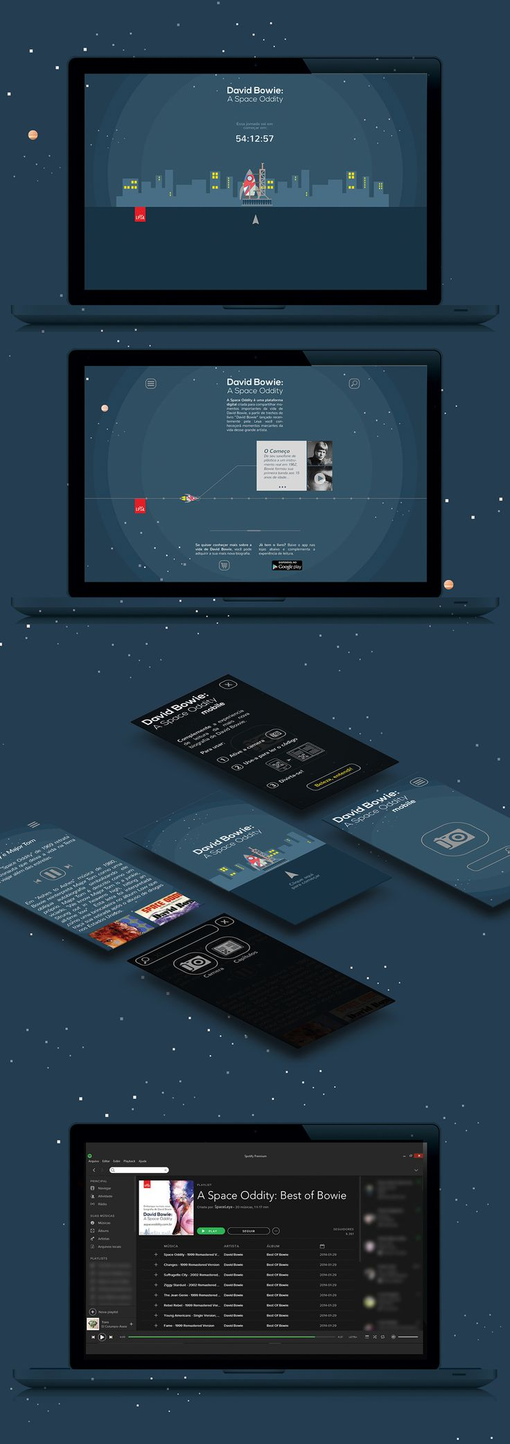 David Bowie: A Space Oddity - Website & App