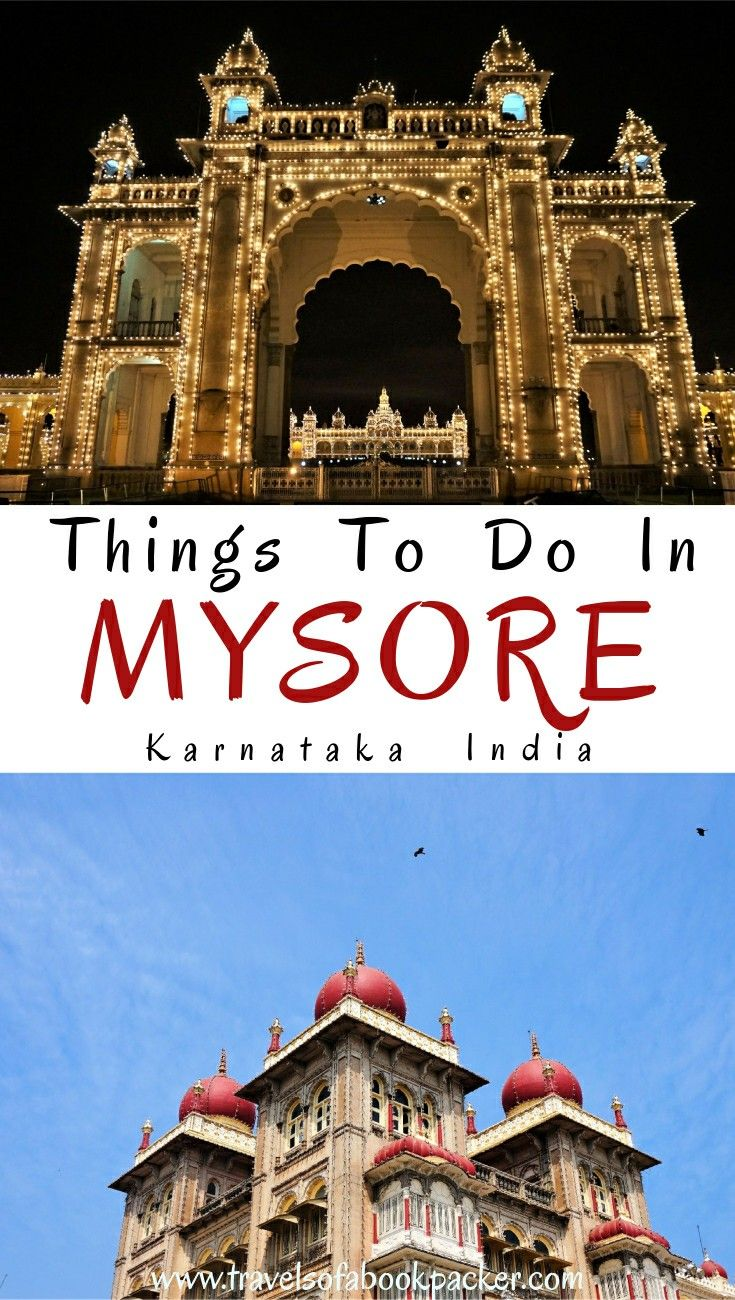 Travelling to India? Read about the best places to see in Mysore.This guide has a list of great things to do in Mysore as well as the best cafes in Mysore and restaurant recommendations. Don't miss this gem in the south of India. Travelling India // things to see in Karnataka // Things to see in south India // Things to do in Mysore // Things to do in south India // Mysore Palace #mysore #india #southindia #karnataka #mysorepalace