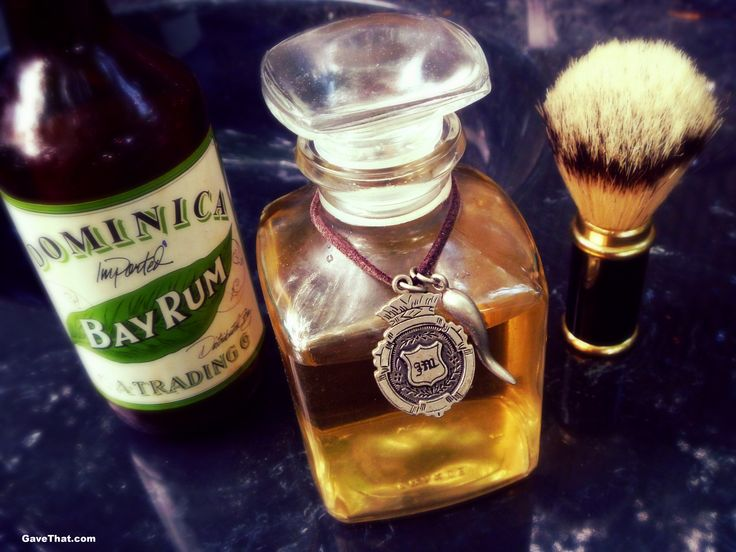 Finished DIY Bay Rum Aftershave & Cologne Gift Idea for Dad
