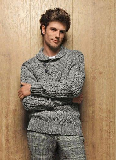 Mag 159 - #13 - Button collar sweater | Buy, yarn, buy yarn online, online, wool, knitting, crochet | Buy Online
