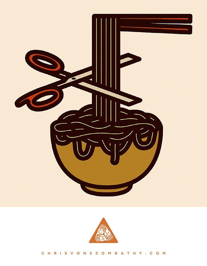 """""""East/West"""" an illustration by artist/designer Chris von Szombathy."""