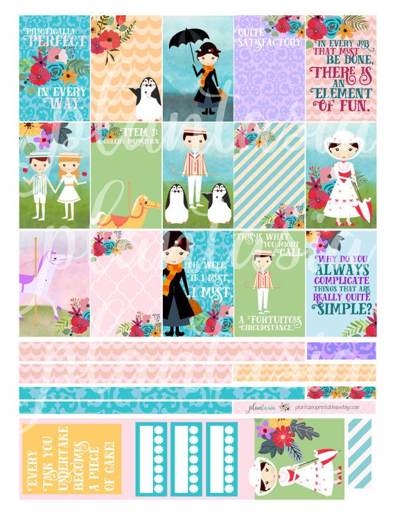 Add wonder and whimsy to your planner with this extra large Mary Poppins planner sticker kit! This is an extra large kit for the same price