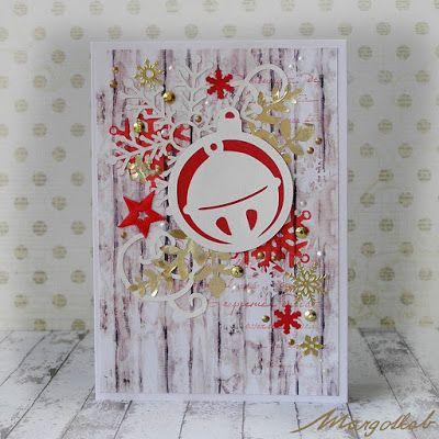 MargotkabCZ: Vánoční přáníčka bílá prkna