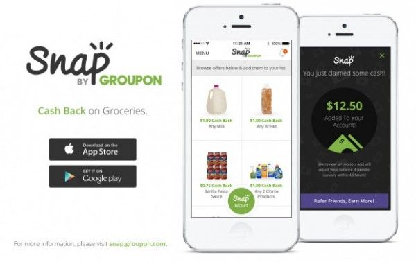 If you have a smartphone, Groupon just recently released a new app to help you save money on your groceries. Download the new Snap App by Groupon and you can get great rebates!