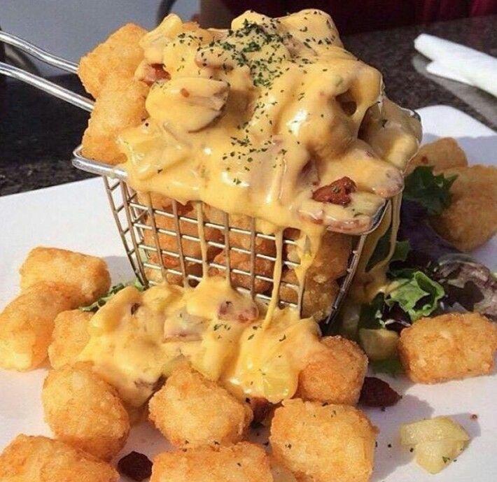 Cheesy potato tots | Delicious Food Recipes | Pinterest | Potato Tots ...