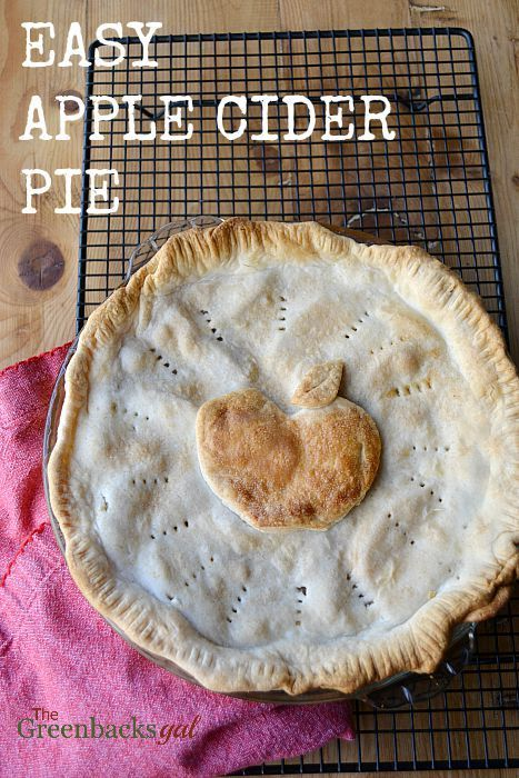 Easy Apple Cider Pie Recipe. The apple cider makes the filling twice as delicious!