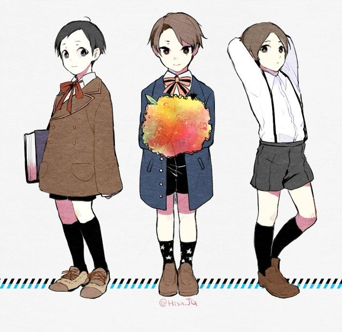 Jitsui, Miyoshi, Hatano!  Twitter: https://twitter.com/hisa_jg/status/751774494897770496  (Please support the original artist!)