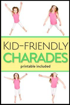 Charades for kids and laughs for the entire family (with printable game cards) - an easy, fun game to pass the time with your kids