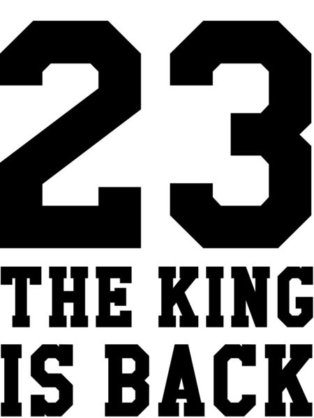 The King is Back #LeBron #James #basketball #Cleveland #cavaliers #bball #ball #tee #shirt #tshirt #clothing #clothes #print #proxy #apparel #sports #sport #athlete #athletic #pro #professional #23 #twenty #three #crown #court #men #women #girls #guys #girl #guy #love #want #need #summer #heart