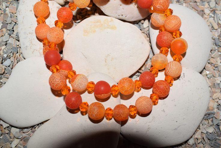 Ketten lang - Kurze Halskette, orange Dream Fire Dragon - ein Designerstück von SuseskleinerLaden bei DaWanda
