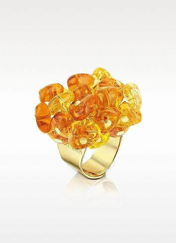 Murano Glass Drops Ring