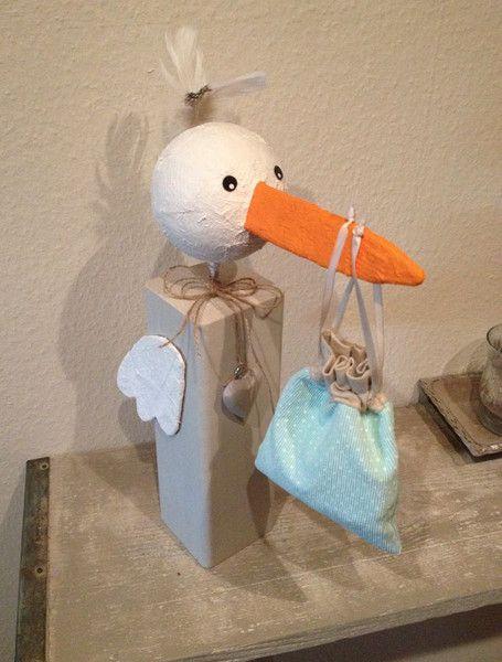 Weiteres - Storch Geburt Jungen Geschenk - ein Designerstück von CottageCrown bei DaWanda