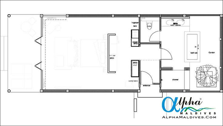 Sunset Beach Villa - Floor Plan
