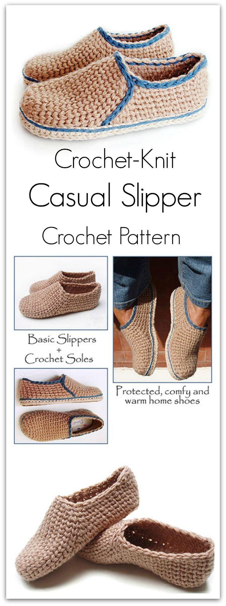 271 best háčkované pantofle images on Pinterest | Hand crafts ...