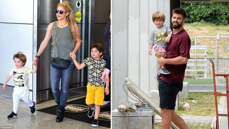 "Shakira's Sons ""Milan Pique & Sasha Pique"" 2017"