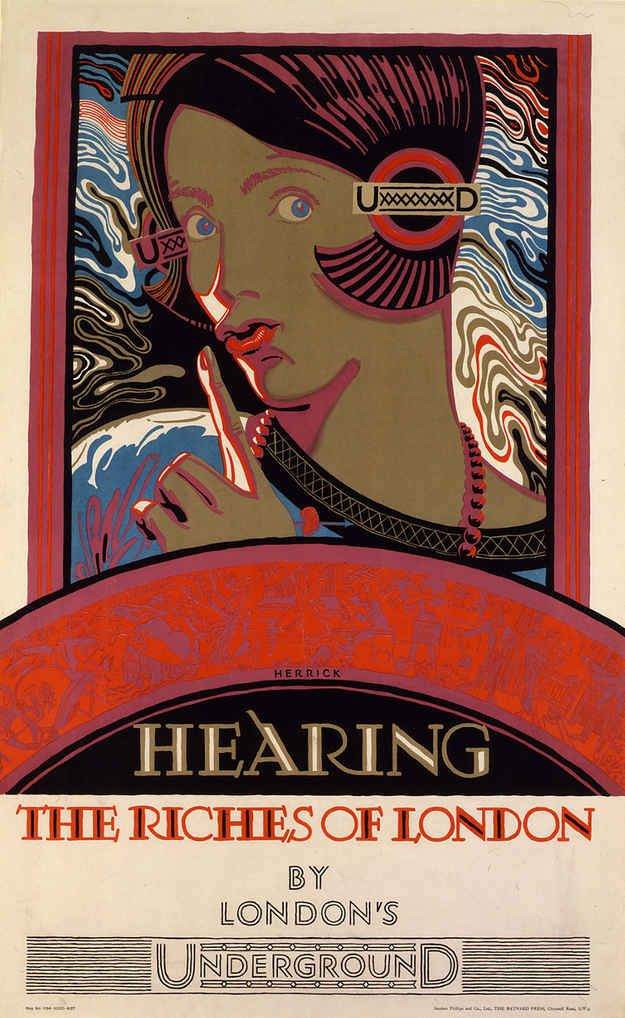 1927: 'Hearing the riches of London'   20 Gorgeous Vintage Posters For The London Underground